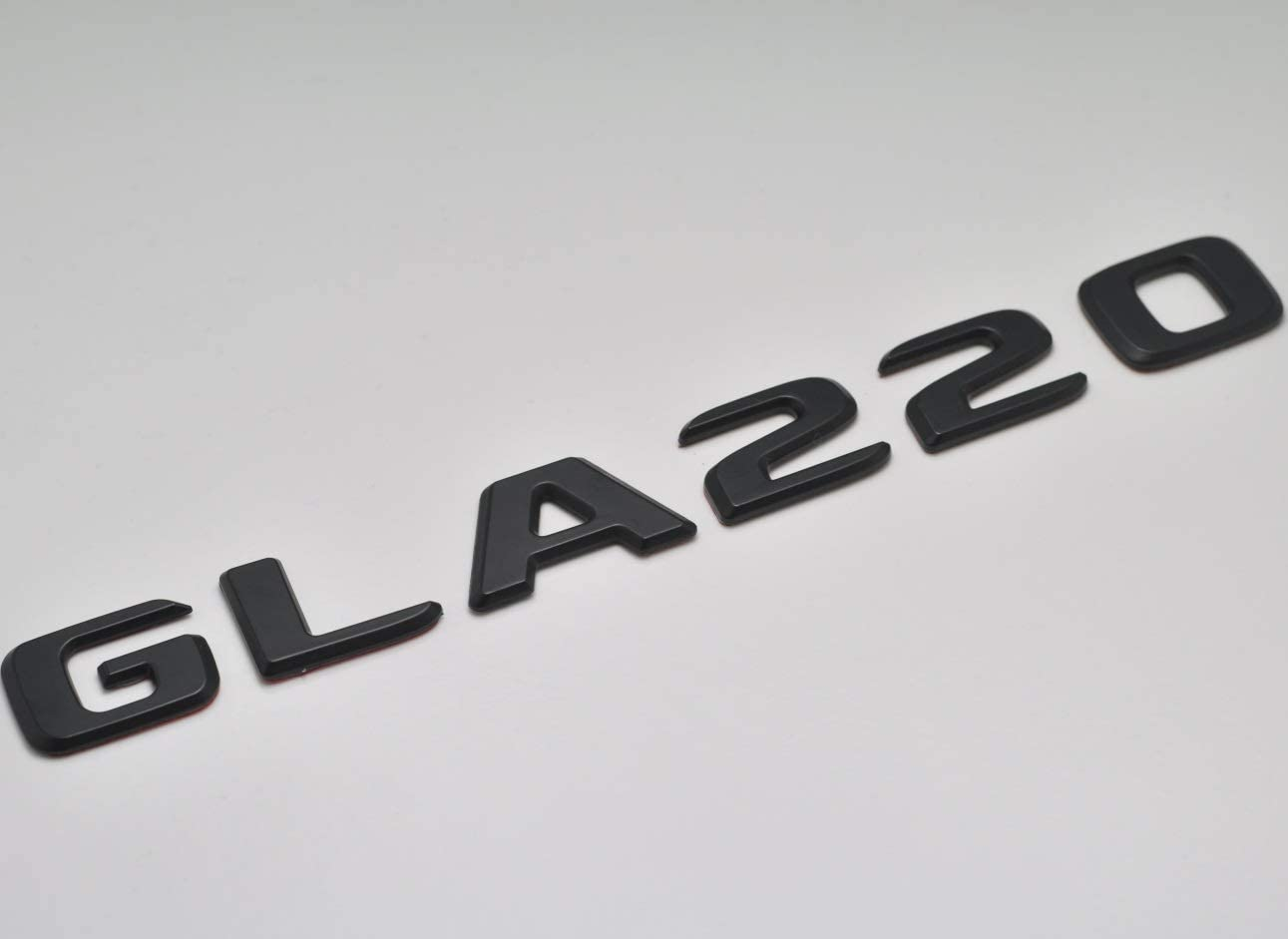 Negro Mate GLA220 Posterior Bota Insignia Emblema Carta N/úmero Compatible Para GLA Clase X156 AMG