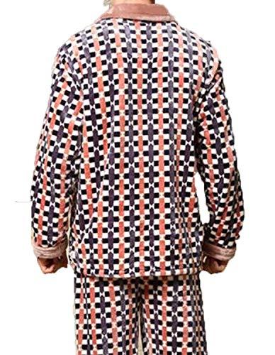 Otoño Invierno Domicilio Hombres Largo Moda Dormir Servicio Pijamas Interior Giro E Dos Ropa Franela Cálido Azul De A q1wPpIpE