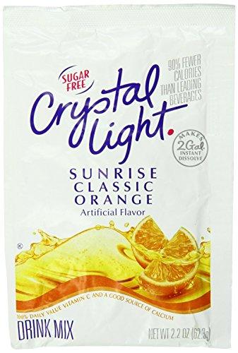 CRYSTAL LIGHT Single Serve Sugar-Free Sunrise Orange Powdered Mix, 1.8 oz. Packet (Pack of 12)