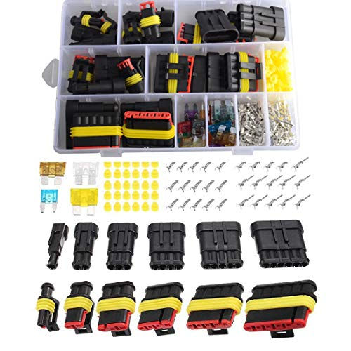 Imentha 14 sets 1-6 Pin Car Motorcycle Waterproof Electrical Wire Connector Automotive Terminals Kit Male Female Plug Blade -