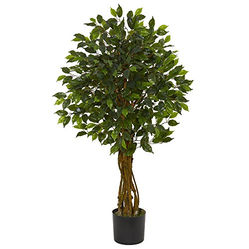 Artificial Ficus Tree (Nearly Natural Ficus Artificial Tree UV Resistant (Indoor/Outdoor), Green)