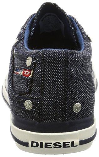 Diesel Hommes Aimant Exposition Bas Sneaker Indigo / Bleu