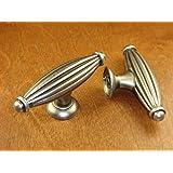 "Sonoma Cabinet Hardware Bodega Rustic Kitchen Handle Knob 2.5"" Antique Pewter Pull Pulls Custom Handle Knobs"