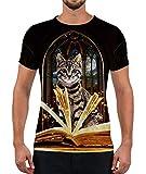 Alistyle Mens Womens Cute 3D Cat Print T-Shirts Noverty Graphic Shirt Tees XL
