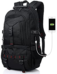 Fashion Laptop Backpack Contains Multi-Function Pockets, Durable Travel Backpack with USB Charging Port Stylish Anti-Theft School Bag Fits 17.3 Inch Laptop Comfort Pack for Women & Men–Black I