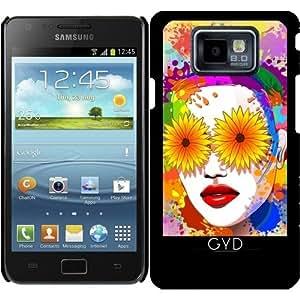 Funda para Samsung Galaxy S2 (GT-I9100) - Flores Niña De Los Ojos De Verano by BluedarkArt