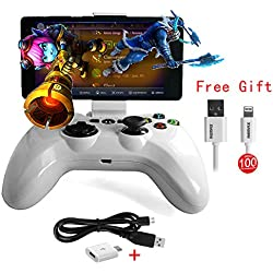 Speedy Gamepad Bluetooth PXN 6603 Apple MFI Game Controller Joystick Holder for iOS iPhone Apple TV (White)