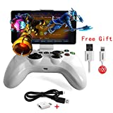 Speedy Gamepad Bluetooth PXN 6603 Apple MFI Game Controller Joystick Holder for iOS iPhone Apple TV (White)