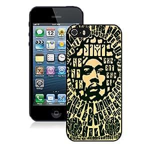 New Unique DIY Antiskid Skin Case For Iphone 5S Jimi Hendrix 4 iPhone 5s Black Phone Case 206