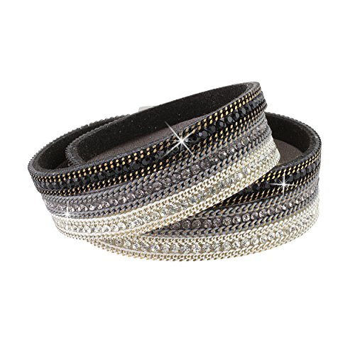 Swarovski Crystal Encrusted Wrap Bracelet for Women - Turn Heads with Rhinestones That Shimmer From Every (Swarovski Crystal Bracelet Designs)