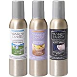 Yankee Candle Popular Fragrances 3-Pack Concentrated Room Sprays (Clean Cotton, Lemon Lavender, MidSummer's Night)