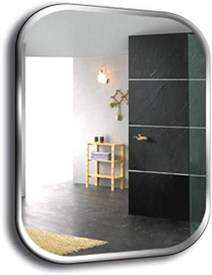 Oanzryybz Espejo sin Marco de Montaje en la Pared del baño Redonda Cuadrada habitación de tamaño Colgando de Maquillaje Resistente al Agua Porche de su casa 50 * 70cm: Amazon.es: Hogar