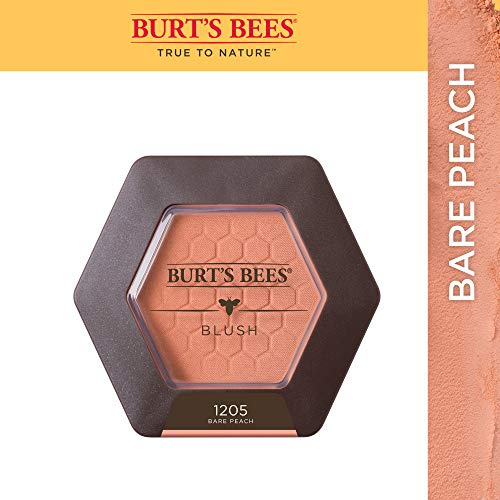Burt's Bees 100% Natural Blush with Vitamin E, Bare Peach, 0.19 oz