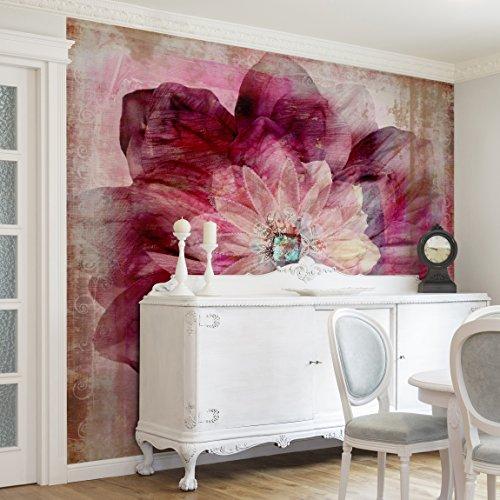 Fotomural-Grunge-Flower-Mural-cuadrado-papel-pintado-fotomurales-murales-pared-papel-para-pared-foto-mural-pared-barato-decorativo
