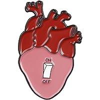 Zonfer Unisex Metal Broche En Forma De Corazón Interruptor Pin Collar Accesorio para Capa De La Chaqueta del Vestido De La Decoración De Joyería