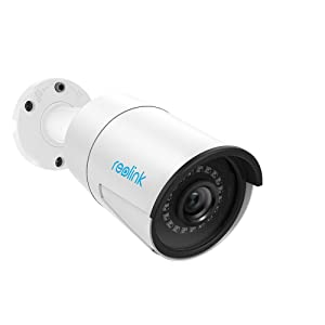 Reolink 5MP PoE Camera Outdoor/Indoor Video Surveillance Home IP Security IR Night Vision Motion Detection Audio Support w/SD Card Slot RLC-410-5MP