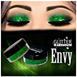 Envy GlitterWarehouse Green Holographic Loose Glitter Powder Great for Eyeshadow / Eye Shadow, Makeup, Body Tattoo, Nail Art and More!