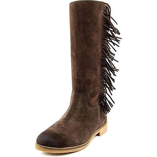 Boho-Chic Vacation & Fall Looks - Standard & Plus Size Styless - Lucky Brand Women's Grayer Fringe Boot,Java Suede Leather,US 8.5 M