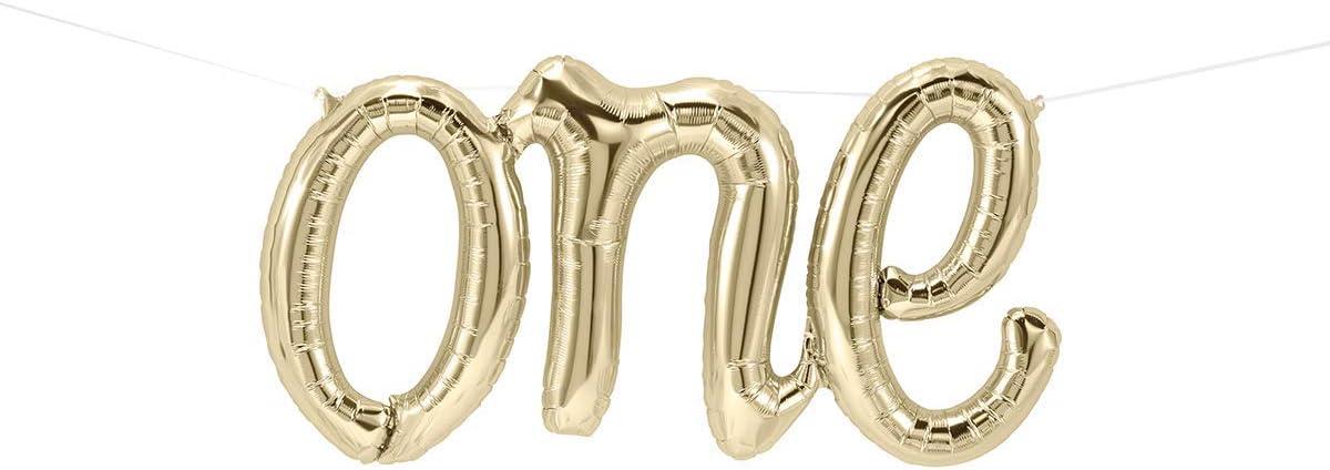Baby Rose Gold Foil Balloon Banner Large Script Style Baby Shower UK Seller