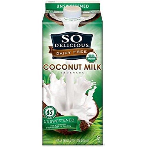 1/2 Gallon Milk - So DeliciousOrganic So Del Coconut Milk Unsweetened 64 Oz (Pack Of 8)