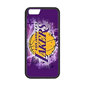L.A. Lakers Back Design for 4.7 inch Screen iPhone 6 TPU Case (Laser Technology)-by Allthingsbasketball