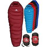 Hyke & Byke 650 Fill Power Down Sleeping Bag for Backpacking – Snowmass 0 Degree F