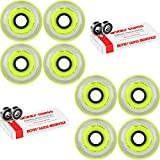 Labeda Millennium Gripper Yellow Hockey Inline Wheels 76mm X-SOFT 8 Pack Swiss