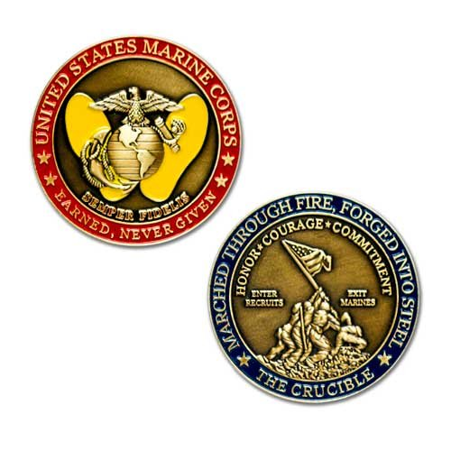 Corps Coin Challenge (MVP Studios Marine Corps Crucible Challenge Coin)