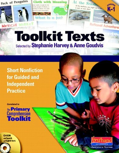 Read Online By Stephanie Harvey Toolkit Texts: Grades PreK-1: Short Nonfiction for Guided and Independent Practice (Pap/Cdr) [Paperback] pdf