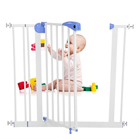 Child Pet Safety Gate Door Pressure Fit Stair Gate 85-94cm Safety Baby Barrier