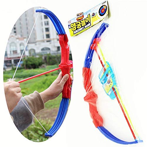UltaPlay - 43Cm Funny Shooting Plastic Archery Bow and Arrow Toys for Children with Sucker Gifts Set Outdoor Sport Garden Games Toy[] -