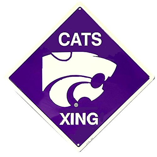 Kansas State Wildcats Holiday Ornament - Signs 4 Fun SD67006 Kansas State Wildcats Xing, Crossing Sign