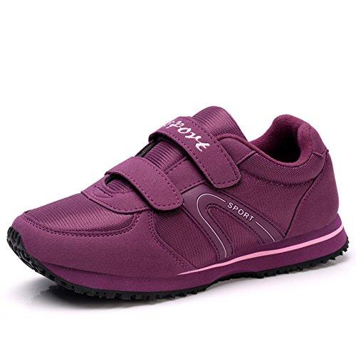 la del Antideslizante los Edad Zapatos Otoño de Ancianos Informales Zapatos Hasag Calza de Primavera Inferior los de de Suave de de los los la y Deportes Madre purple Calzados A2 Parte Mediana de Ancianos los YFqEP