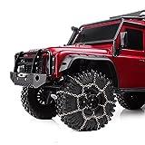 INJORA 2Pcs Metal 120mm 1.9inch Tires Snow Chain for 1/10 RC Rock Crawler Traxxas TRX-4 TRX4 Axial SCX10 90046
