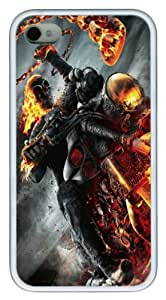 Ghost Rider Spirit Of Vengeance TPU Case Cover for iPhone 4 and iPhone 4s ¡§C White