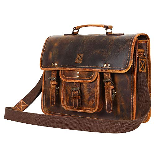 (Leather Centric Office Laptop Briefcase Satchel Bag)