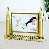 Army Memorial Frame 5 Inch Metal Bullets Picture Frame Artwork Home Desktop Decoration Framework Kangsanli