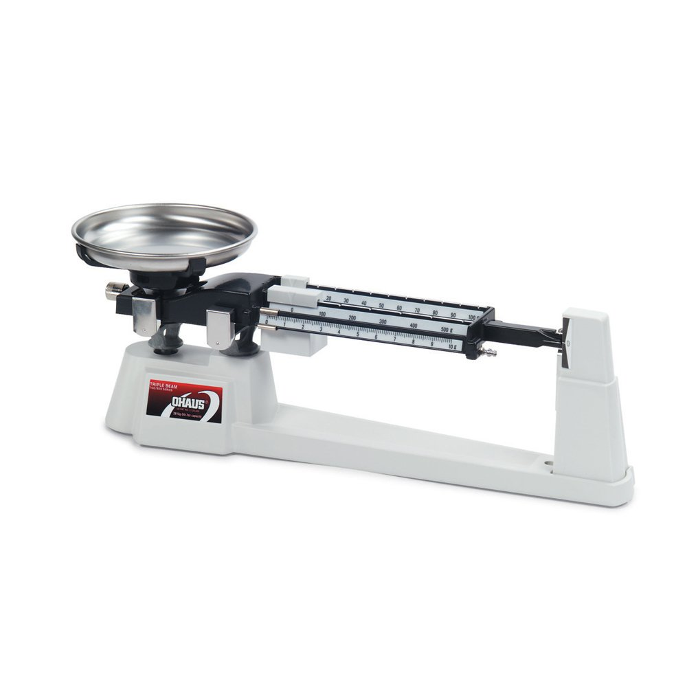 Ohaus Specialty Mechanical Triple Beam Balance, with Stainless Steel Pan, 610g Capacity, 0.1g Readability 80000011