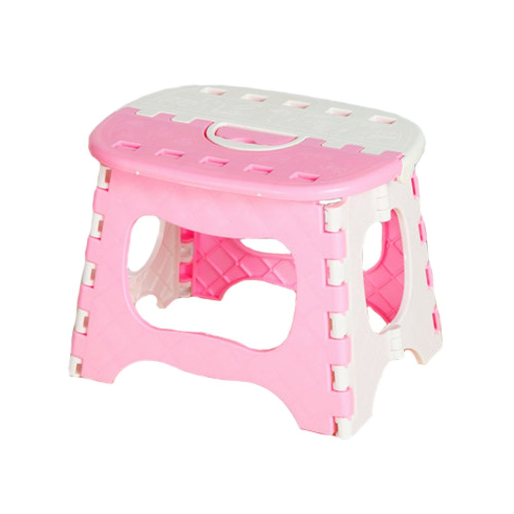 Plastic Lightweight Foldable Step Stool Folding Stools for Kids & Adults - Pink Kylin Express