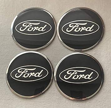 Emblema Ford, color negro y azul, para centro de rueda, logotipo adhesivo para