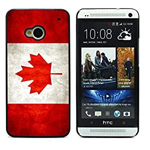 Graphic4You Vintage Canadian Flag of Canada Design Hard Case Cover for HTC One (M7)