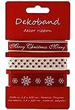 3er Set Geschenkband Weihnachten - tolles Dekoband, Schleifenband, Zierband für Weihnachten