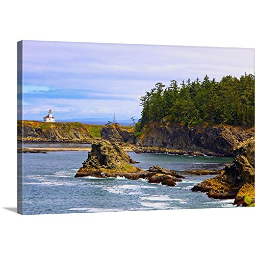 (GREATBIGCANVAS Gallery-Wrapped Canvas Entitled Cape Arago Lighthouse at Shore Acres State Park at Coos Bay; Oregon, USA by Craig Tuttle 18