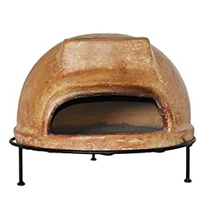 Rustic Wood-Burning Outdoor Pizza Oven, Including A Rustic Pizza Peel, Ember Rake, Weather Protective Cover, Cooking Manual And Clay Pizza Plate, Made Of Bricks, Presented In Beige Finish