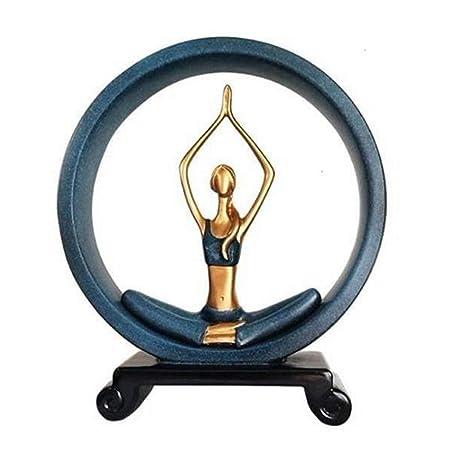 ZLBYB Decoración Escultura-Creativa y Abstracta Belleza Yoga ...