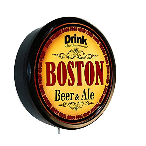 Boston Ale - BOSTON Beer and Ale Cerveza Lighted Wall Sign