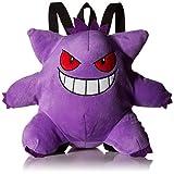 Pokemon Boys' Gangar Plush Backpack, Purple