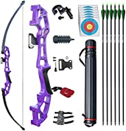 """D&Q 51"""" Archery Takedown Recurve Bow and Arrow Set 30lb/40lb Right Hand Longbow Kit for Adult Beginne"""