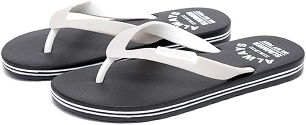 COLOV Mens Slippers Comfort Sandals Beach Shoes Flat Flip Flops
