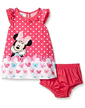 Baby Girls' Minnie Mouse Polka Dot Dress and Panty
